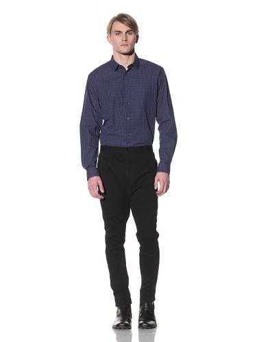 Saxony Men's Morimoto Long Sleeve Shirt (Blue)