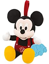 Disney Mickey Talking Plush with Rattle, Multi Color