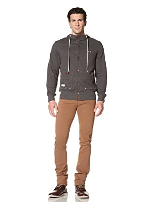 Marshall Artist Men's Button-Up Hooded Cardigan (Charcoal)