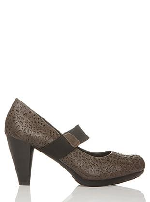 Rizzo Zapatos Calado Elástico tico (Taupe)
