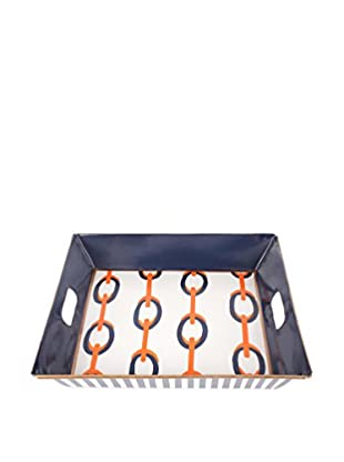 Jayes Chains Square Tray, Orange