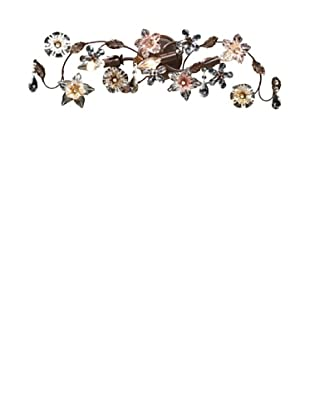 Artistic Lighting Cristallo Fiore 3-Light Vanity, Deep Rust