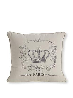 Crown Motif Pillow (Vanilla)