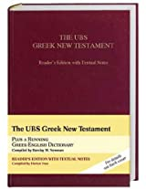 The UBS Greek New Testament: Reader's Edition With Textual Notes