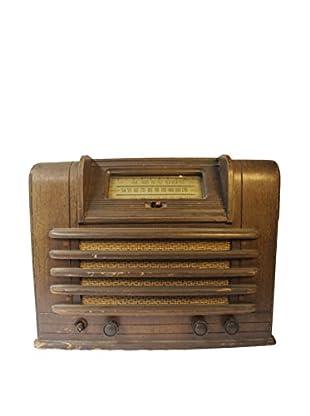 1930s Vintage Shortwave/Broadcast Radio, Brown/Ivory