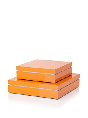 Mili Designs Two-Tone Storage Box Set (Orange/Pink)