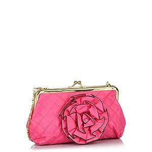 Pink Sling Bag With Frame Closure