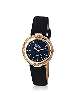 Sophie and Freda Women's SF1406 Tuscany Black/Black/Rose Leather Watch