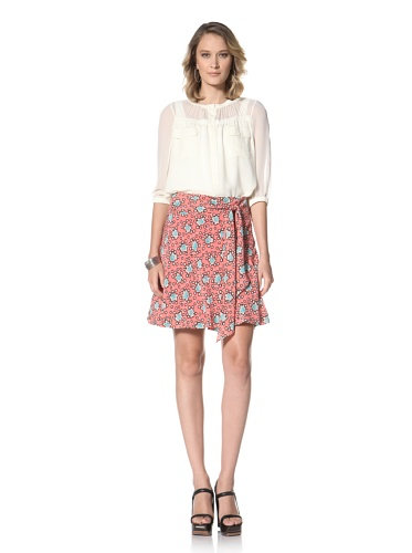 Paul & Joe Women's Fleur Patterened Skirt (Pink)