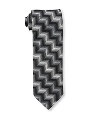 Missoni Men's Large Zig Zag Tie, Black