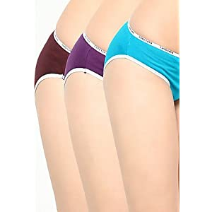 Blue Colored Cotton Material Pack of 3 Panties for Women U C L  by Lady Lyka