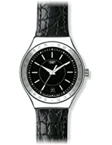 Swatch Analog Black Dial Men's Watch - YAS402