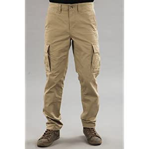 Men Khaki Cargo Pants