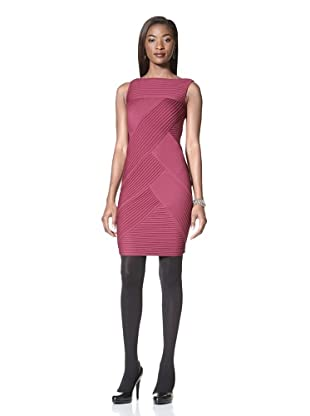 Catherine Malandrino Women's Sleeveless Crisscross Weave Dress (Pink)
