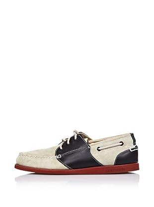 Sebago Zapato Náutico Con Suela Teja (Piedra/Negro)