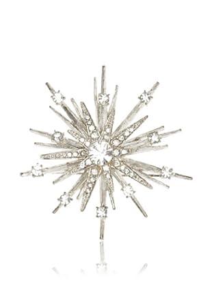 Lulu Frost 1920's Art Deco Snowflake Brooch