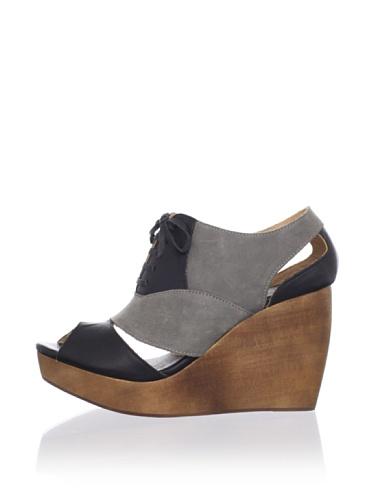 Fiel Women's Caviana Cutout Wedge (Black/Grey)