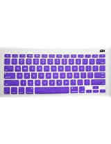 Yashi Laptop Keyboard Protector Cover PURPLE Color Silicone Rubber for Apple MacBook 15.4