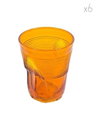 Kaleidos Set 6 Bicchieri Accartocciati 360 ml (Arancio)