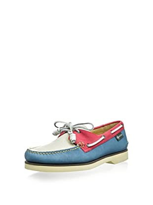 Eastland Men's Washburn 1955 Edition Collection Boat Shoe (Blue/Bone/Red)