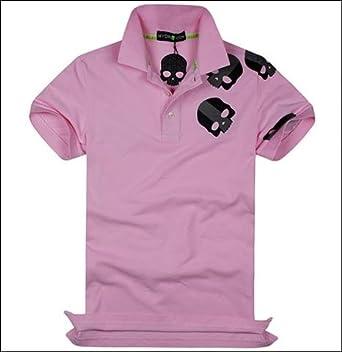 (ハイドロゲン)HYDROGEN ポロシャツ メンズ スカル イタリアピンク 並行輸入品