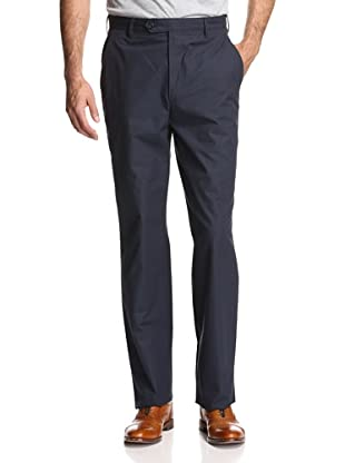Oxxford Men's Solid Poplin Pant (Navy)