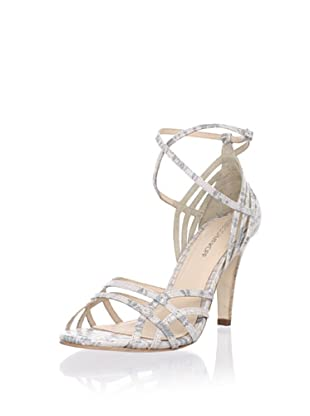 Rebecca Minkoff Women's Knock-Out Strappy Sandal (Pale Grey Lizard)