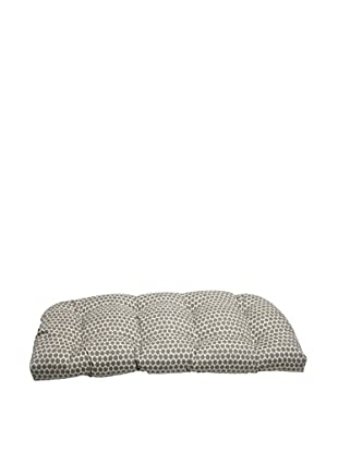 Pillow Perfect Outdoor Seeing Spots Wicker Loveseat Cushion, Brown
