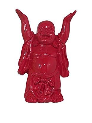 Three Hands Cherry Resin Buddha Figurine