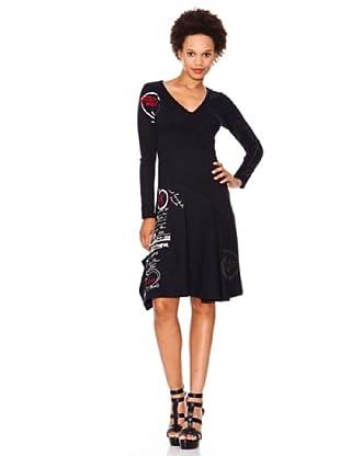 Desigual Vestido All-Down (Negro)