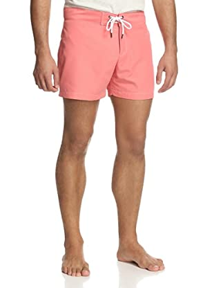 Parke & Ronen Men's Solid Boardshort (Persimmon)