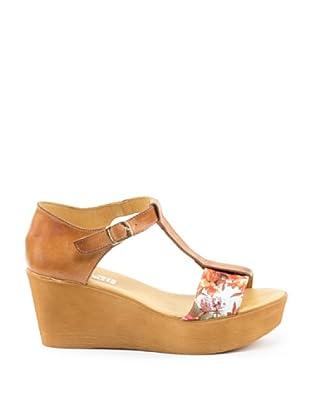 Misu Keil-Sandalette Astra (Hellbraun)