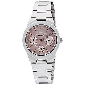 Timex E-Class Analog Pink Dial Women's Watch - J100