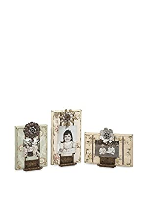 Set of 3 Ella Elaine Door Hinge Photo Frames, White