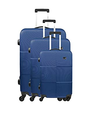 BLUESTAR Set 3 Trolley Rigido Miami