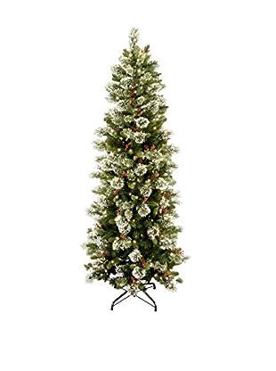 National Tree Company 7.5' Wintry Pine Slim Hinged Tree