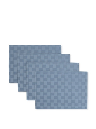 Bardwil Set of 4 Reflections Placemats (Stone Blue)