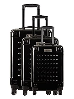 Creation Olivier Lapidus Pour Platinium Set 3 Trolley 4 Ruedas Golf (Negro)