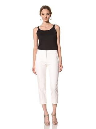 Les Copains Women's Black Label Crop Pant