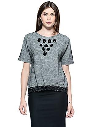 Annarita N Camiseta Corta (Gris / Negro)