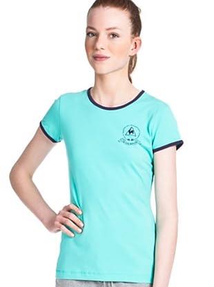 Le Coq Camiseta Logo (Turquesa)