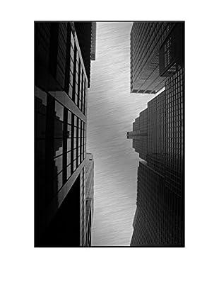 Wall Street Photography On Mounted Metal