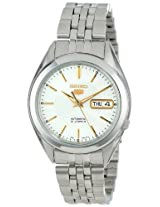 Seiko Men's SNKL17 Seiko 5 Automatic Silver Dial Stainless-Steel Bracelet Watch