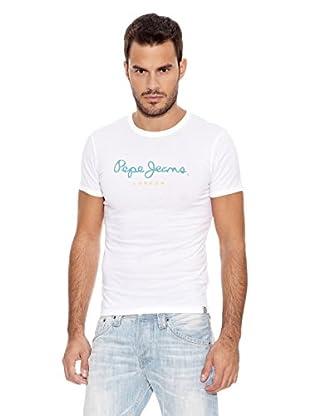 Pepe Jeans London Camiseta Eggo Slim Madison (Blanco)