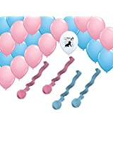 2 Pink 2 Blue Rolls Streamers And 24 Balloons Decorating Kit