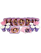 Princess Sofia the 1st Cake Plate, Napkin, Cup, and Spoon Party Set for 8