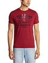 Pepe Jeans Men's Round Neck Cotton Blend Sweatshirt