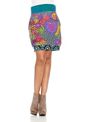 Desigual Minifalda Virgil (Azul)