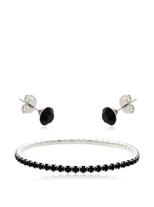 Diamond Style Set Armband und Ohrringe Jet Elizabeth