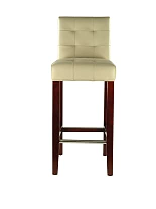 Safavieh Mercer Collection Marcus Leather Barstool, Ivory